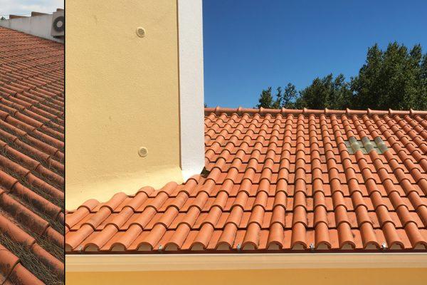 Depois de efectuarmos a limpeza do telhado